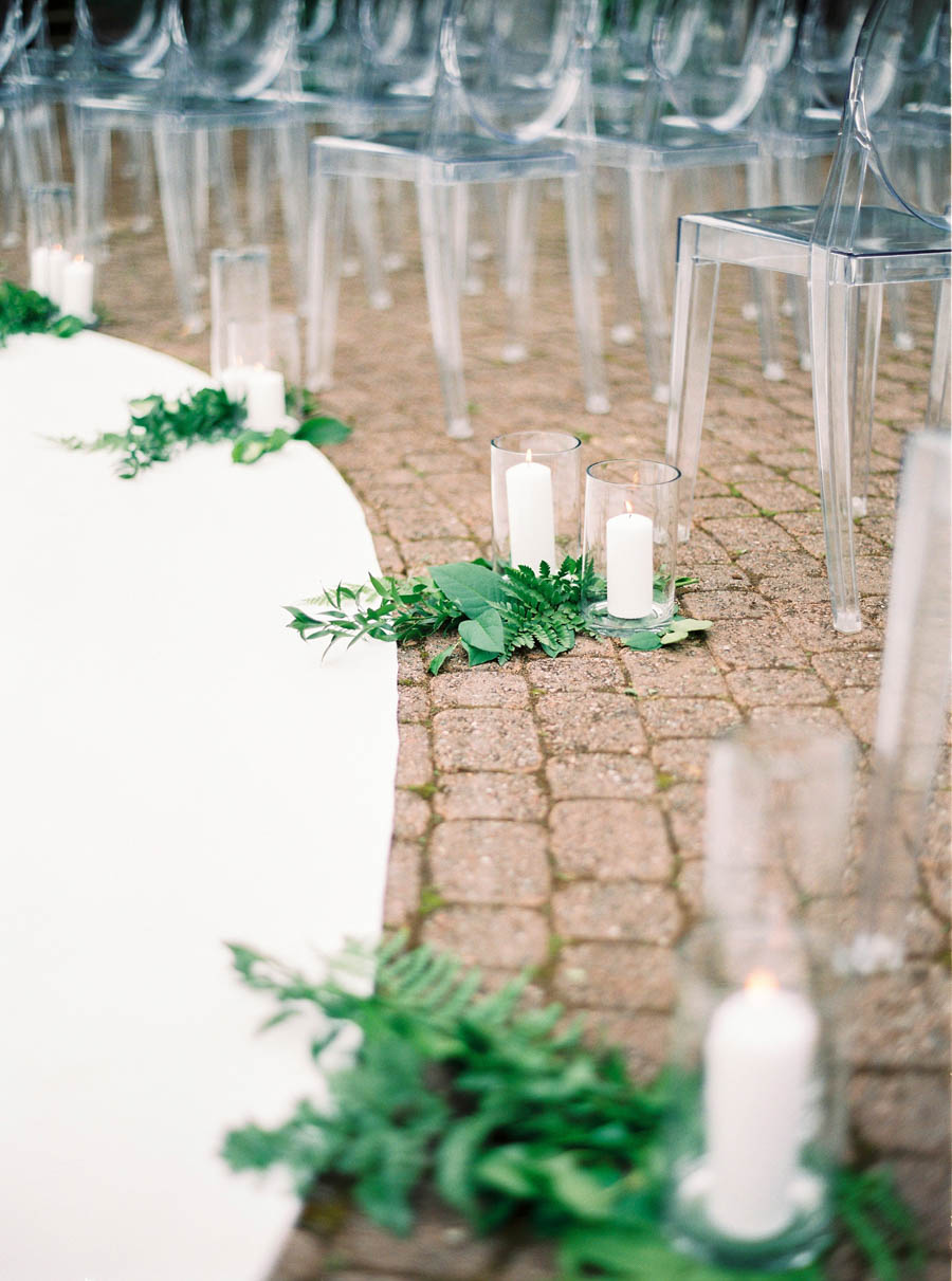 wedding ceremony decor pillar candles
